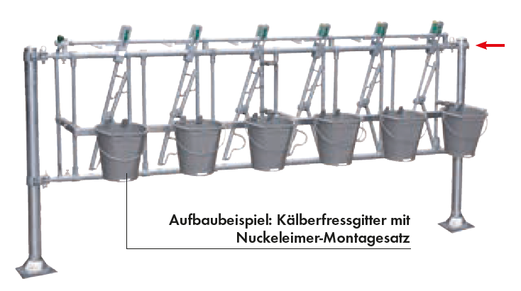 Nuckeleimer-Montagesatz