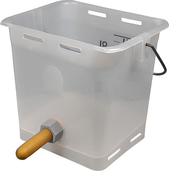 Nuckel-Tränkeeimer 13l mit Sauger weich und Kugelventil