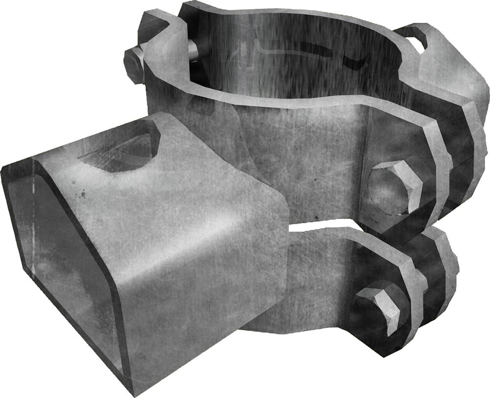Schelle Ø 102 mm, mit 2 Riegelhalter TS