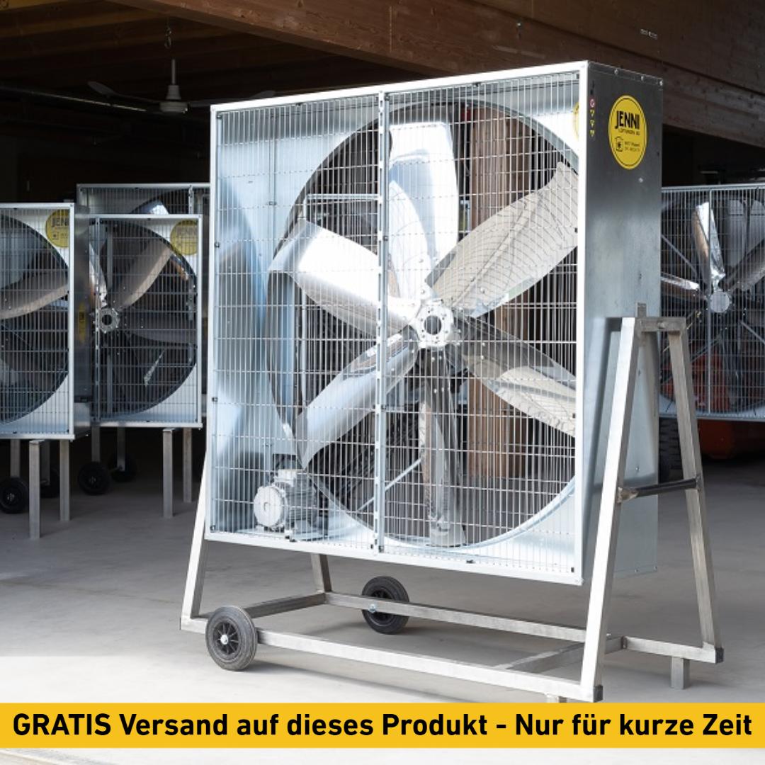 Mobiler Grossraum-Ventilator, PREMIUM, Typ 140, 0.75kW, schwenkbar