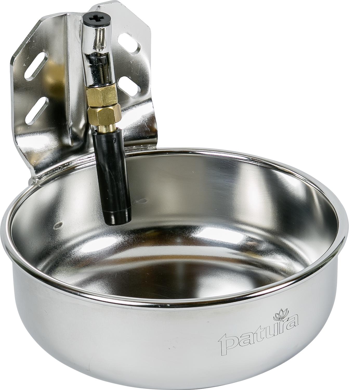 Rohrventil-Becken Compact Edelstahl