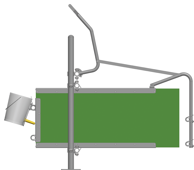 Kälberfress- und Tränkestand: Verriegelungs-Set