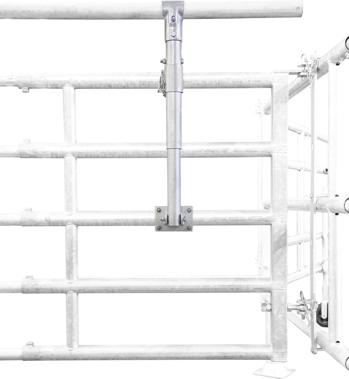 Halter für Zusatzrohr für Abtrennungen und Tore