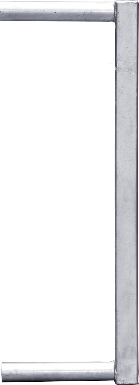 Abschlussrohr 60x60 für Fressgitter, Schnellverschluss TS und Anschraubteil