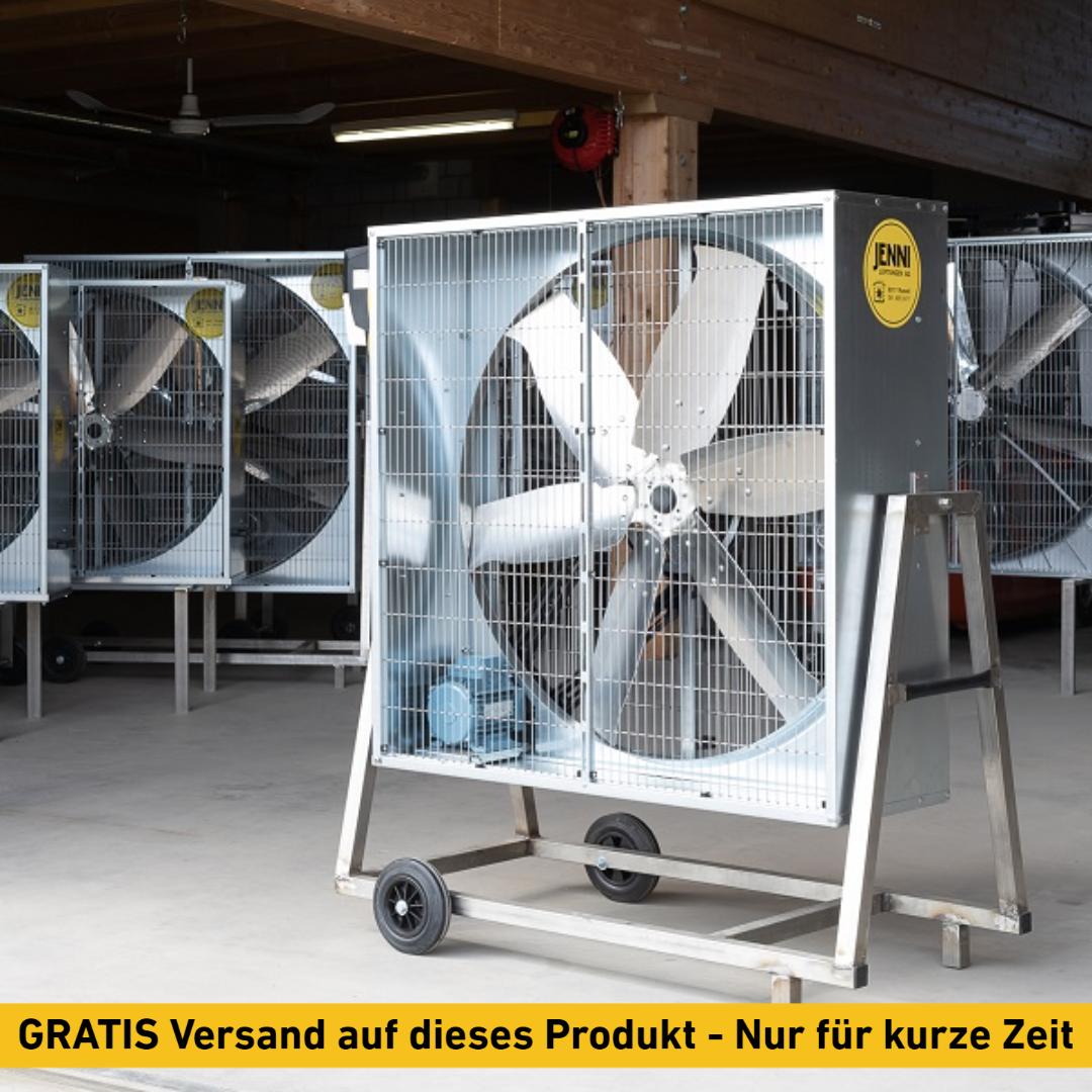Mobiler Grossraum-Ventilator, PREMIUM, Typ 114, 0.55kW, schwenkbar