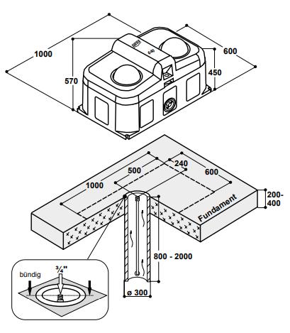 SUEVIA Thermo-Quell Mod. 640, 2 Bälle Isolierte Tränke