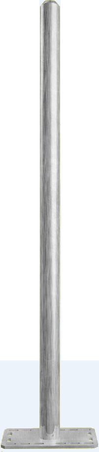 Pfosten Ø 76 x 3,6 mm, L= 1,35 m
