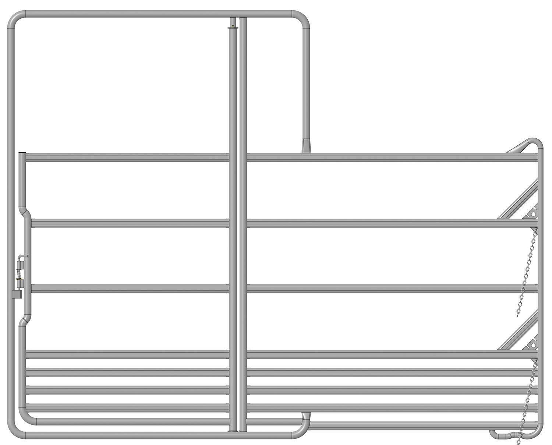 Sicherheits-Pferde-Panel mit Tor