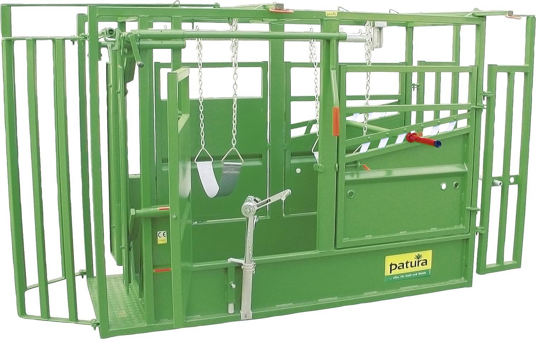 Behandlungsstand A5000 KVW, Klauenpflege feuerverzinkt mit Vorderfußwinde