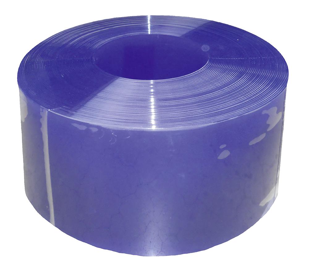 PVC-Streifen 300 x 3 mm blau transparent, Meterware