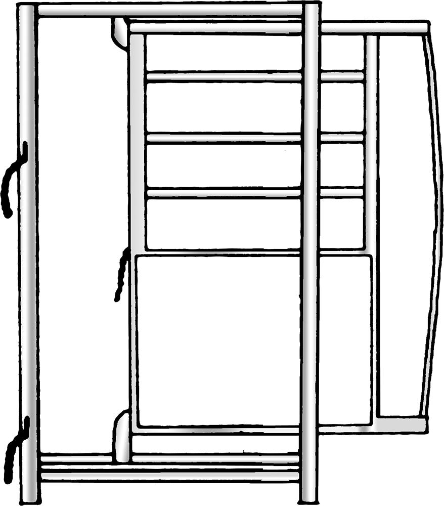 Rahmen mit Schiebetüre