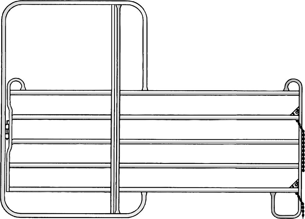 Panel 5 mit Tor, Höhe: 2.20 m