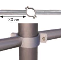 Einschub Schelle 76 doppelt für Pfosten Ø 76 mm