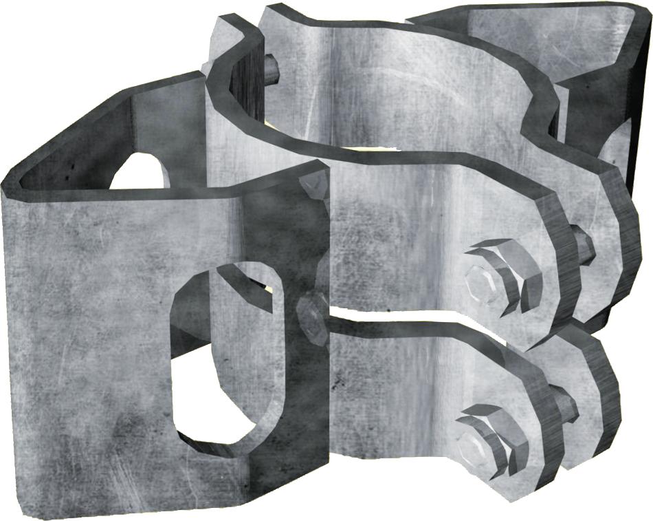 Schelle Ø 102 mm, mit 2 Riegelhalter RS parallel