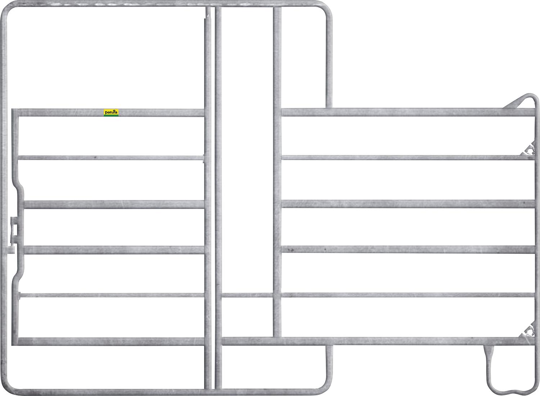 Panel 6 mit Tor und Fressgitter, Höhe 2.20 m