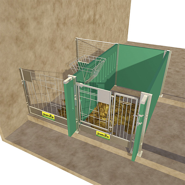 Rückwand Gitter, oben für Kälberbox