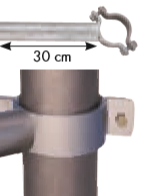 Einschub Schelle einfach für Pfosten Ø102 mm