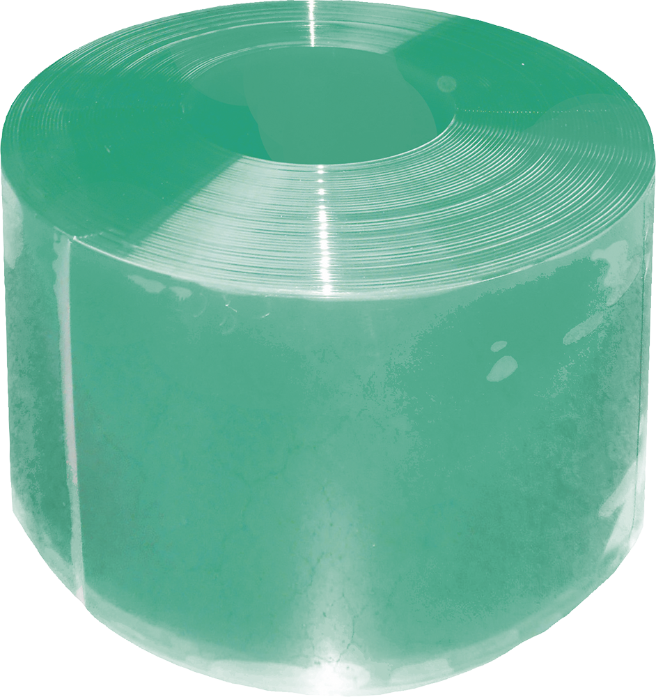 PVC-Streifen Compact 300 x 3 mm grün transparent