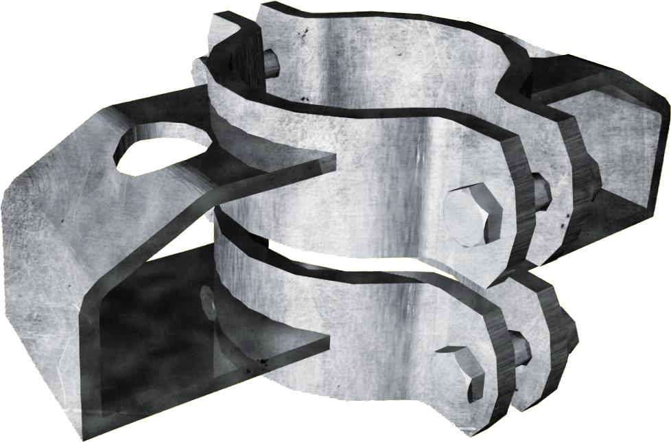 Schelle Ø 102 mm, mit 2 Riegelhalter TS parallel