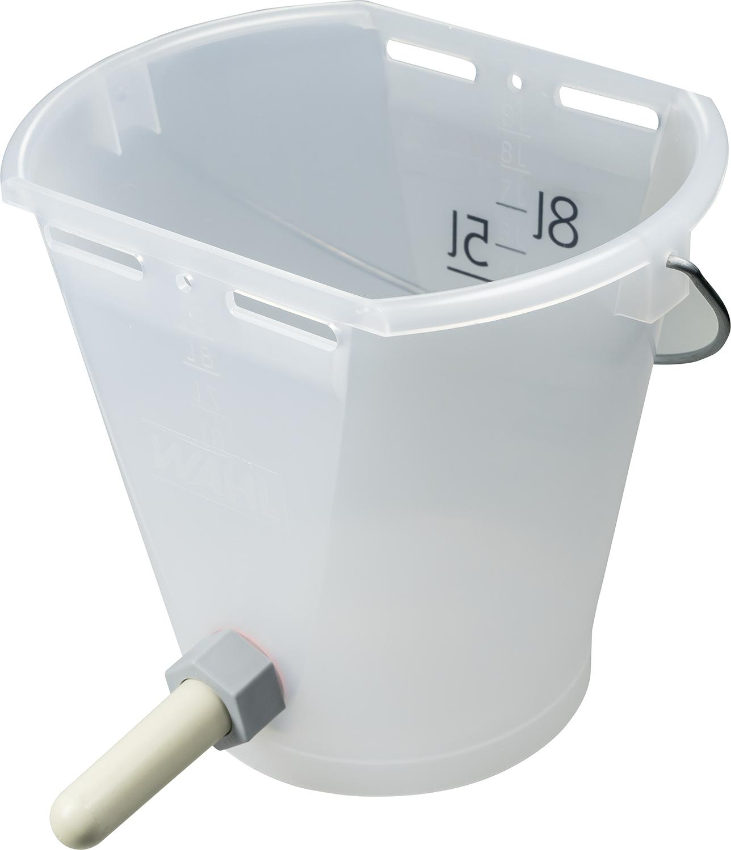 Nuckel-Tränkeeimer 9l, transparent mit 1-Click-Ventil