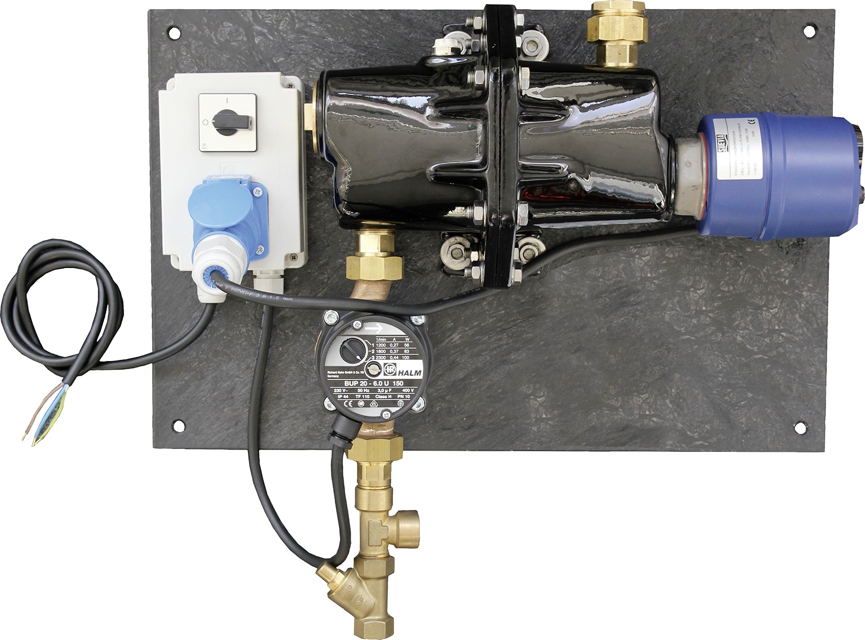 SUEVIA Umlaufheizsystem Mod. 303 mit Thermostat und Umlaufpumpe
