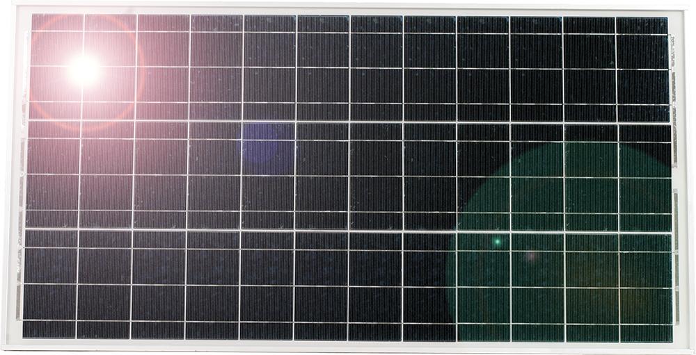 Solarmodul 65 Watt, mit Universalhalter