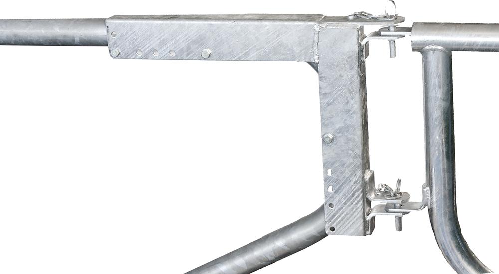 Montagerahmen f. Abtrennungen an Liegeboxenbügel
