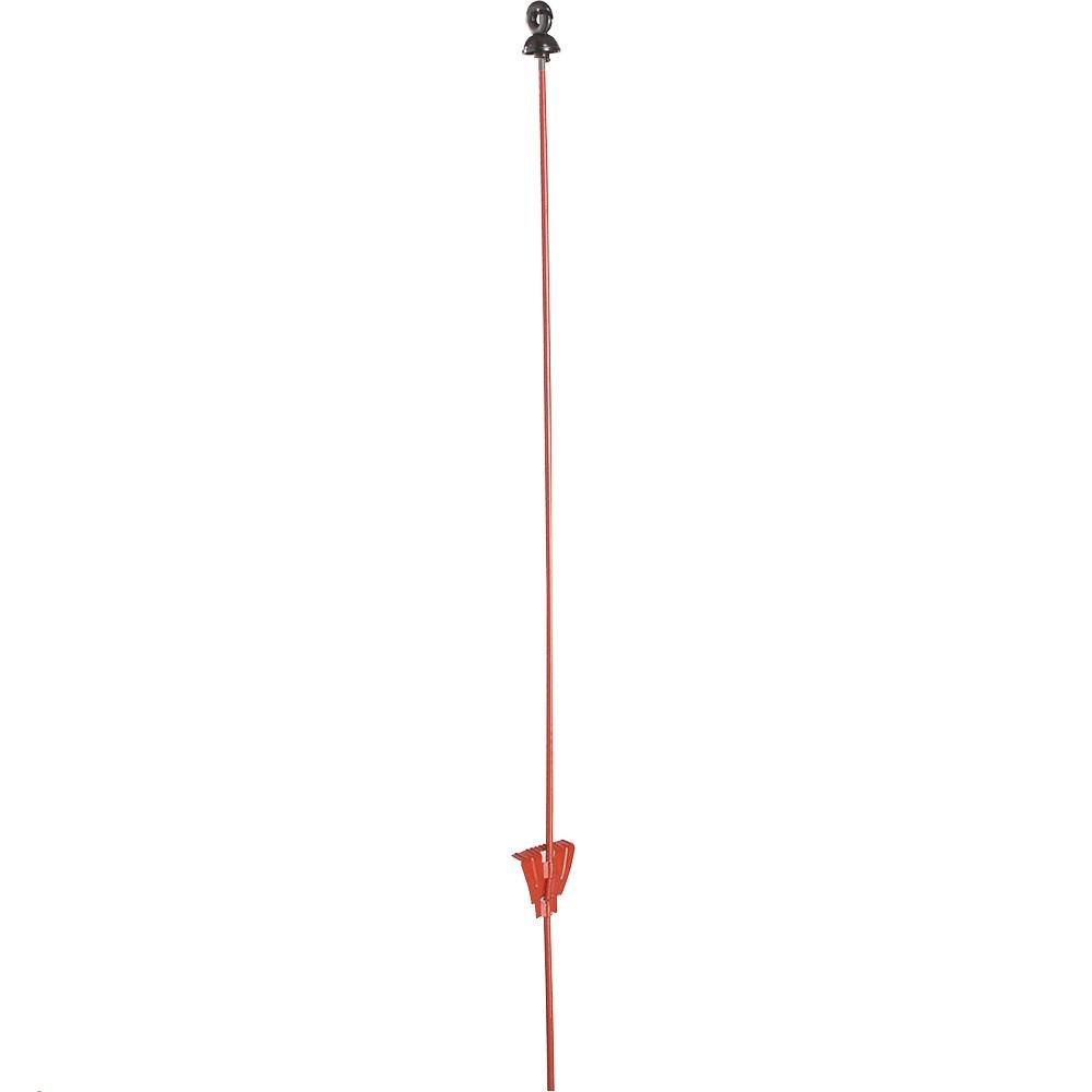 Federstahlpfahl rund, 1,00 m, mit Ringisolator