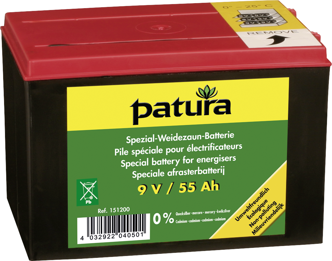Spezial-Weidezaun-Batterie 9V