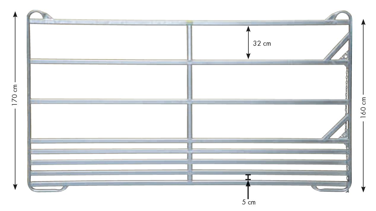 Sicherheits-Pferde-Panel, Höhe 1.70 m