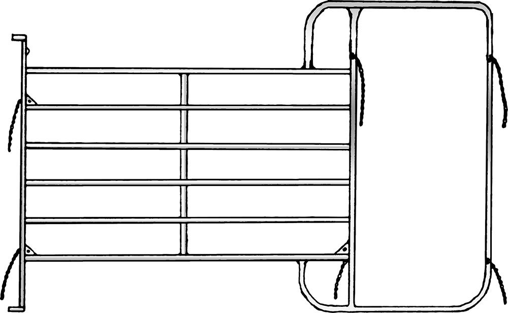 Panel mit Rahmen, Höhe: 2,10 m