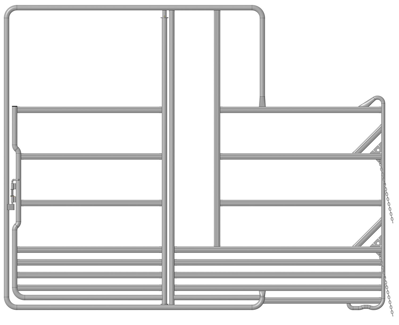 Sicherheits-Pferde-Panel mit Tor und Fressplatz