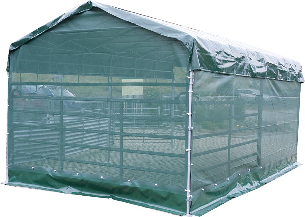 Panel-Dach 6 x 3,6 m: Windschutznetz für Seitenteil
