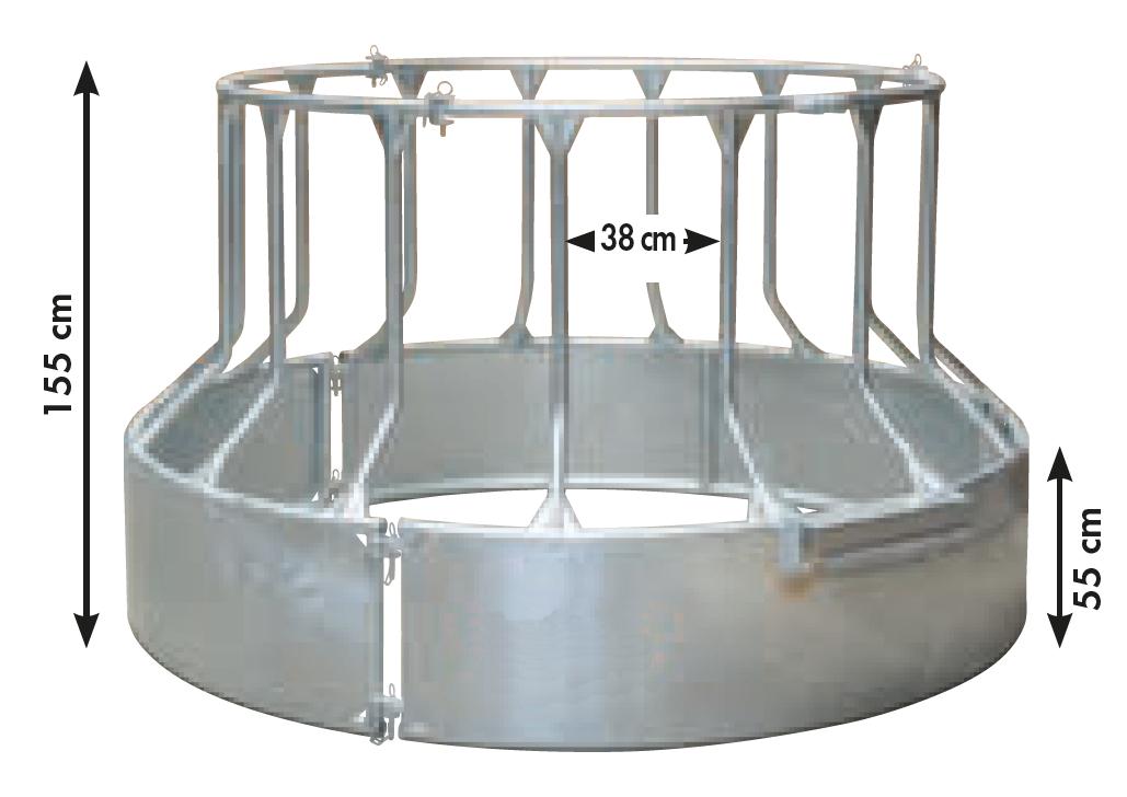 Futterspar-Rundraufe 15 Fressplätze