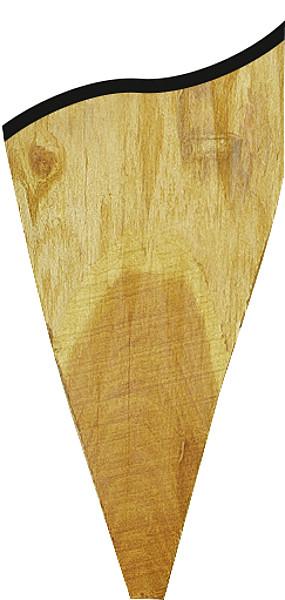 Robinienpfahl, halbiert, 1,50 m, Ø 13-15 cm