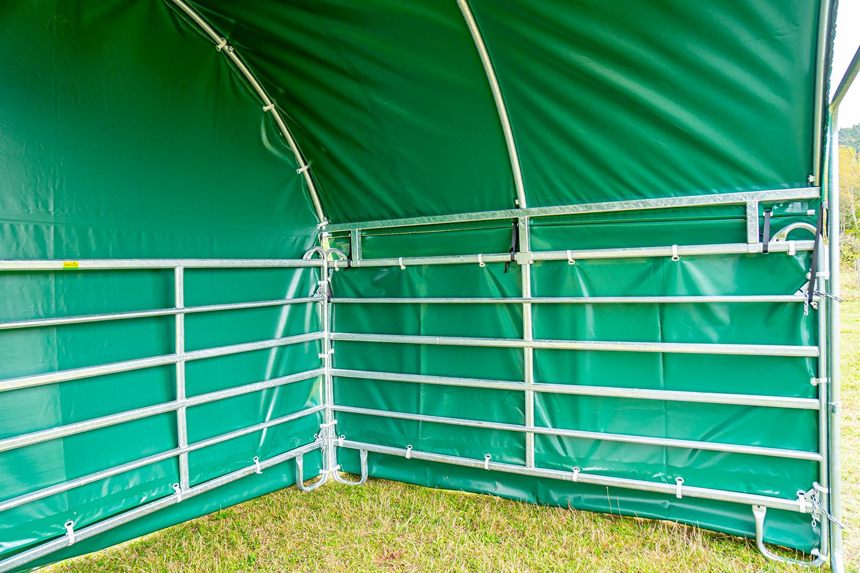Panel-Dach Compact: Wetterschutzplane Seitenteil 6 m