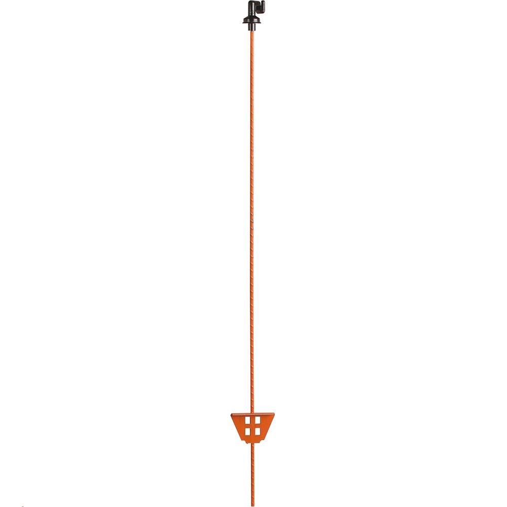 Federstahlpfahl oval, 1,05 m, mit Kunststoff-Öse