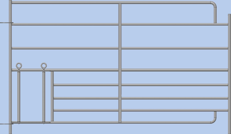 Steckfix-Horde XL mit Lämmerschlupf 8 Rohre