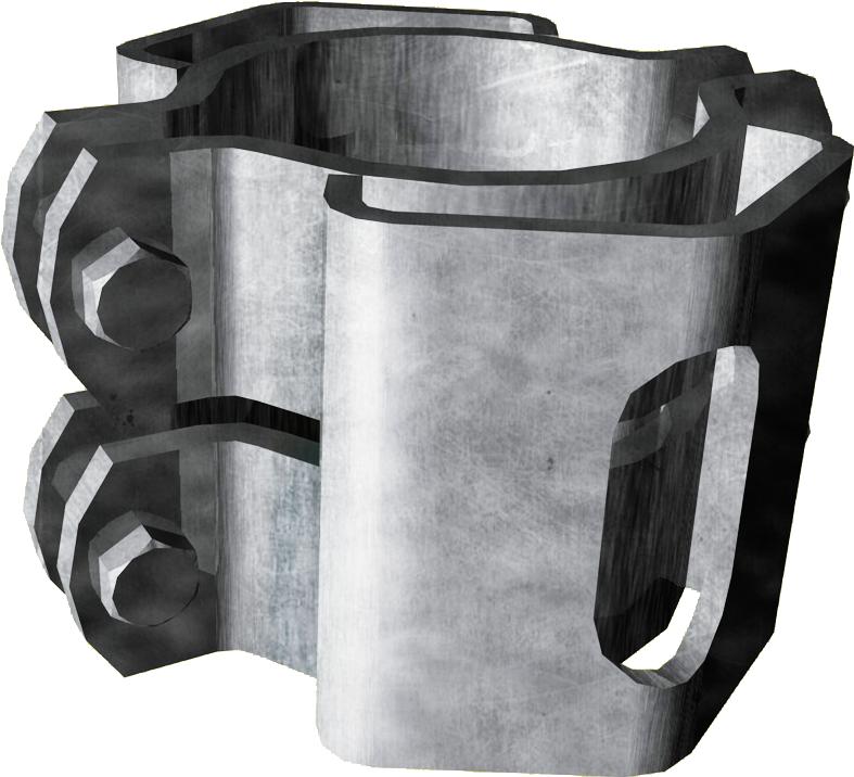 Schelle Ø 102 mm, mit 2 Riegelhalter RS