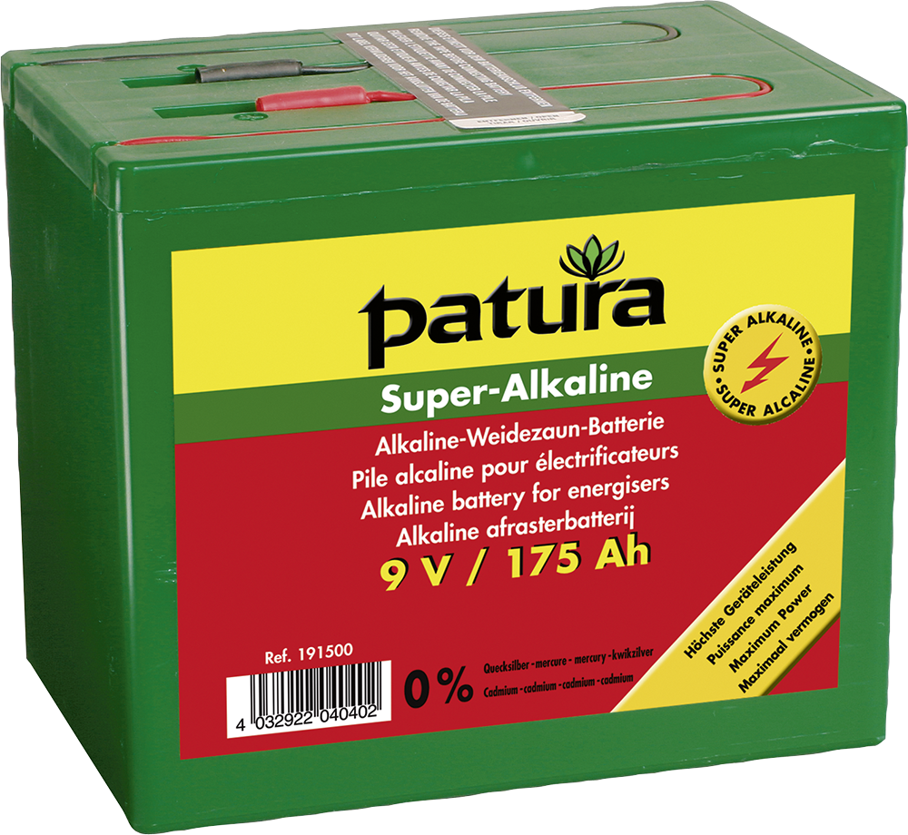 Super-Alkaline Weidezaun-Batterie 9V