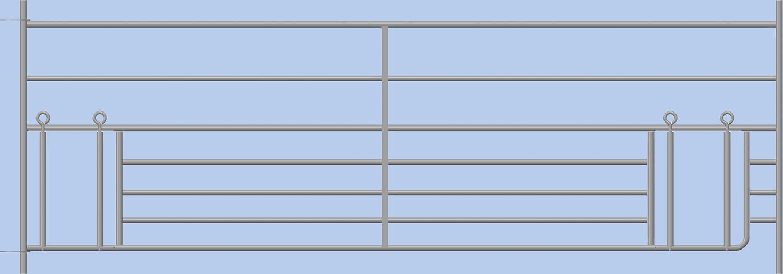 Steckfix-Horde, mit doppeltem Lämmerschlupf