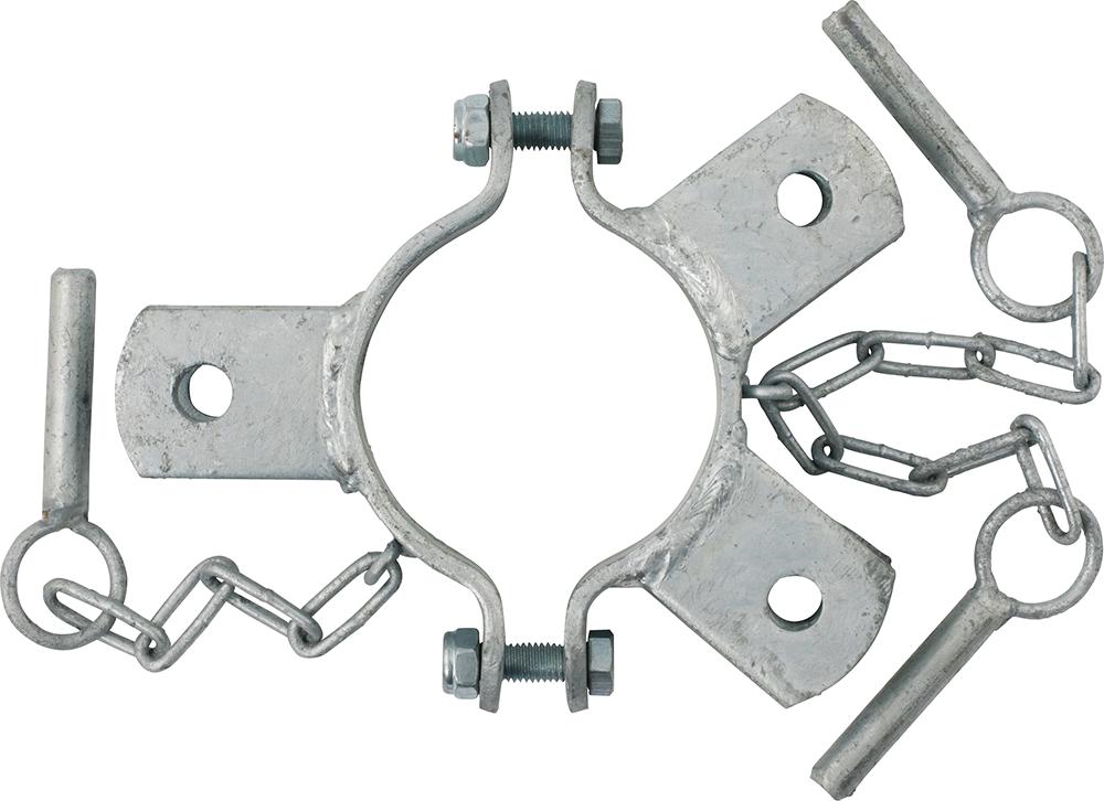 Schelle Ø 102 mm, 3 Halter, mittig
