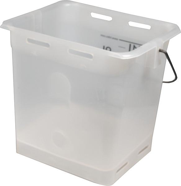 Nuckel-Tränkeeimer 13l, transparent